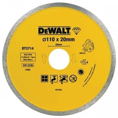 dt3714 dewalt deimantinis pjovimo diskas 110 x 20 mm